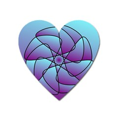 Pattern Magnet (Heart)