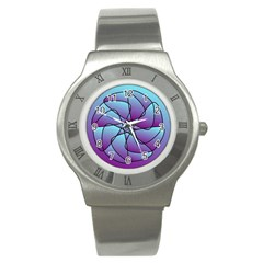 Pattern Stainless Steel Watch (slim)