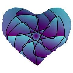 Pattern 19  Premium Heart Shape Cushion