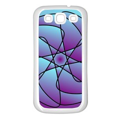 Pattern Samsung Galaxy S3 Back Case (White)