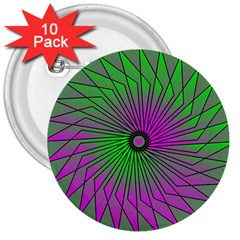 Pattern 3  Button (10 pack)