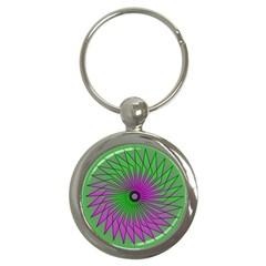 Pattern Key Chain (Round)
