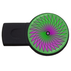 Pattern 1GB USB Flash Drive (Round)