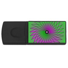 Pattern 4gb Usb Flash Drive (rectangle)