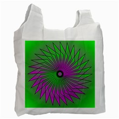Pattern White Reusable Bag (Two Sides)