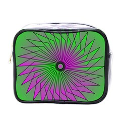 Pattern Mini Travel Toiletry Bag (one Side)