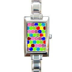 Color Rectangular Italian Charm Watch