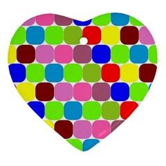 Color Heart Ornament