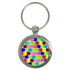 Color Key Chain (round)