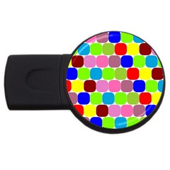 Color 2GB USB Flash Drive (Round)