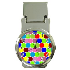 Color Money Clip With Watch