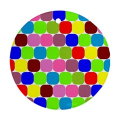 Color Round Ornament (two Sides)