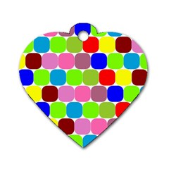 Color Dog Tag Heart (Two Sided)