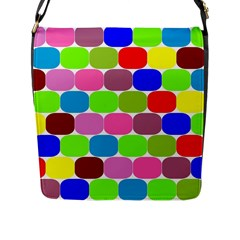 Color Flap Closure Messenger Bag (Large)
