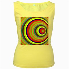 Color Women s Tank Top (Yellow)