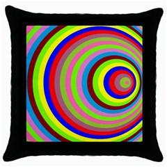 Color Black Throw Pillow Case