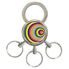 Color 3-Ring Key Chain