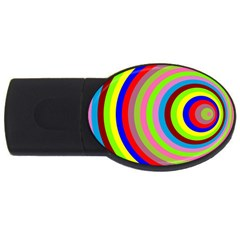 Color 1GB USB Flash Drive (Oval)