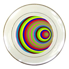 Color Porcelain Display Plate