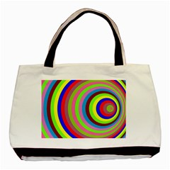Color Twin-sided Black Tote Bag