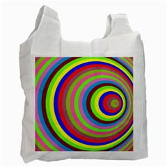 Color White Reusable Bag (One Side)