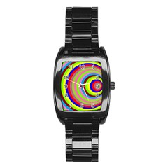 Color Stainless Steel Barrel Watch