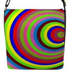Color Flap Closure Messenger Bag (Small)