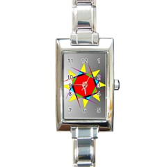Star Rectangular Italian Charm Watch