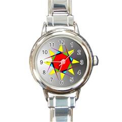 Star Round Italian Charm Watch