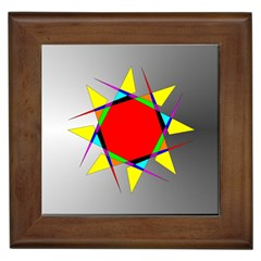 Star Framed Ceramic Tile