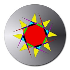 Star 8  Mouse Pad (round)