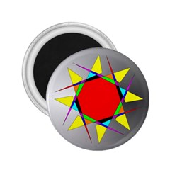 Star 2 25  Button Magnet