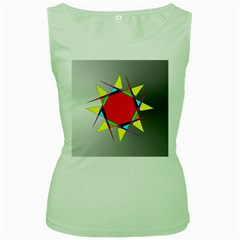 Star Women s Tank Top (Green)