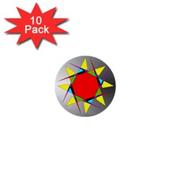 Star 1  Mini Button (10 pack)