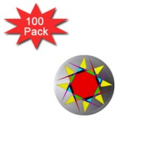 Star 1  Mini Button Magnet (100 pack)