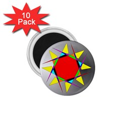 Star 1.75  Button Magnet (10 pack)