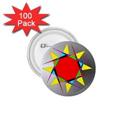 Star 1 75  Button (100 Pack)