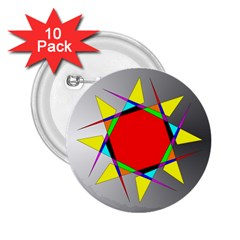 Star 2.25  Button (10 pack)