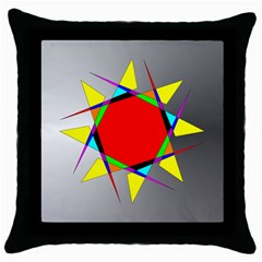 Star Black Throw Pillow Case