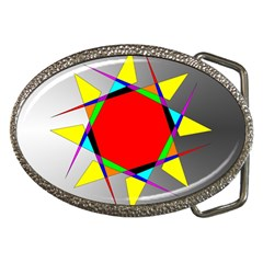 Star Belt Buckle (oval)