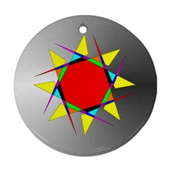 Star Round Ornament (Two Sides)