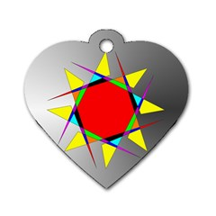 Star Dog Tag Heart (Two Sided)