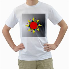 Star Men s T Shirt (white)