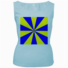 Pattern Women s Tank Top (Baby Blue)