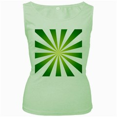 Pattern Women s Tank Top (green)
