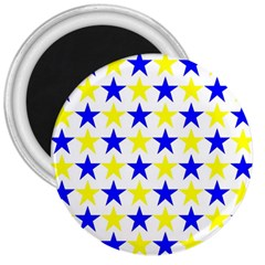 Star 3  Button Magnet