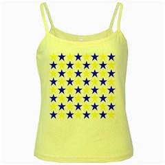 Star Yellow Spaghetti Tank