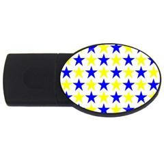 Star 1GB USB Flash Drive (Oval)