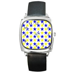 Star Square Leather Watch
