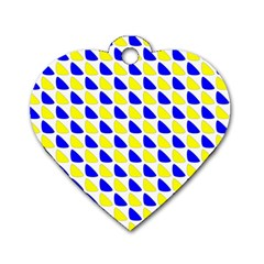 Pattern Dog Tag Heart (Two Sided)